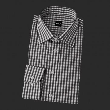 Pure 3338 Hemd Business Fashion Herren Farbe Dunkel Farbe Schwarz
